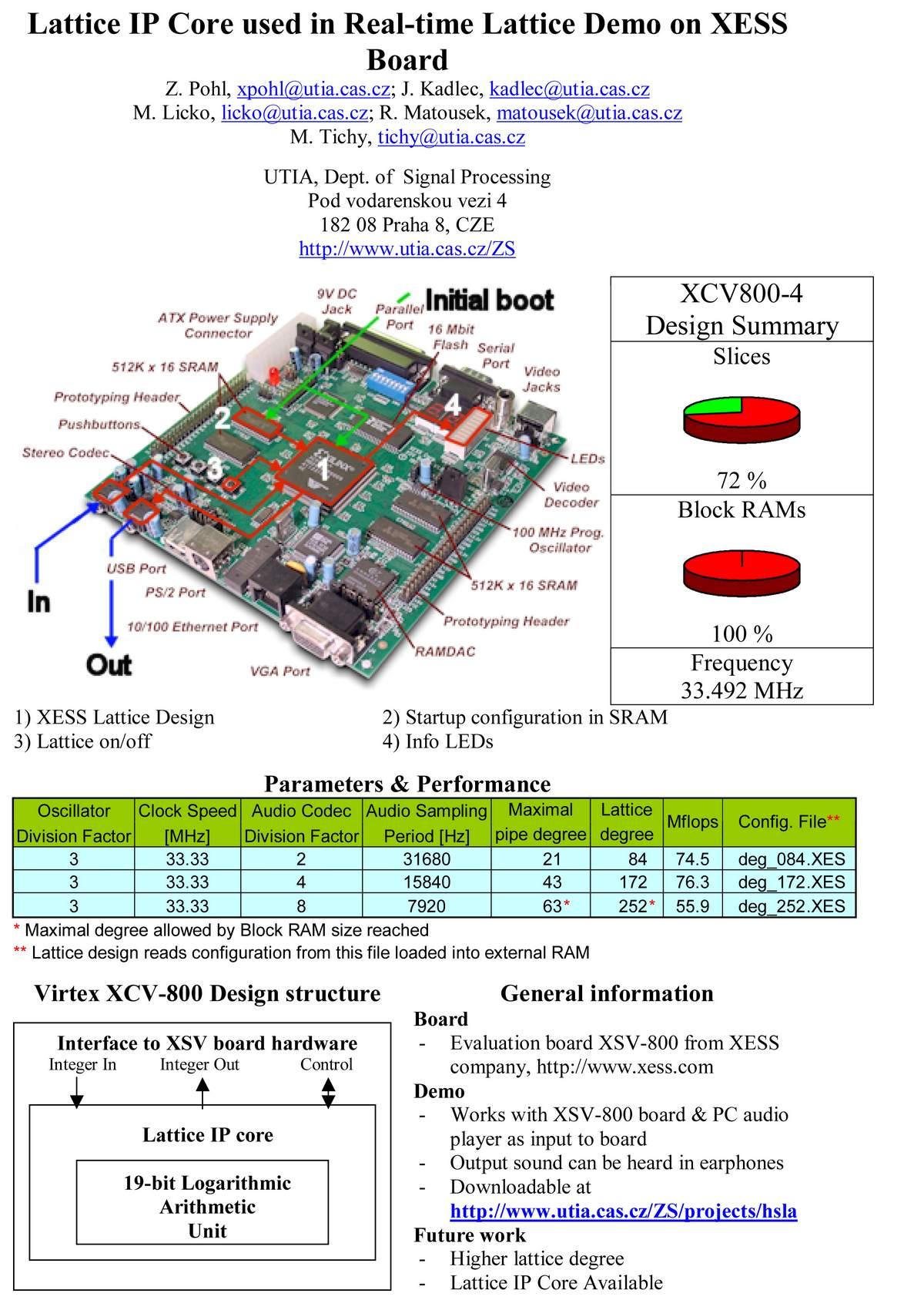Signal Processing Utia Presentations Logic Diagram Of Alu Rls Lattice Macros For Virtex E Virtex2 With Lns 19 32 Bit